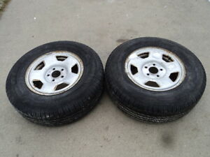 2 Champiro tires with steel rims for 2001-2007 Ford Escape
