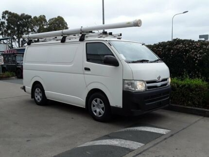 2011 Toyota Hiace KDH201R MY11 LWB White 5 Speed Manual Van