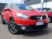 2013 Nissan Dualis J10W Series 4 MY13 Ti-L Hatch X-tronic 2WD Red 6 Speed Constant Variable Fawkner Moreland Area Preview
