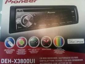 Car stereo Pioneer DEH-X3800UI car stereo.
