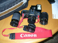 CANON T 70 35 MM with 4 LENSES