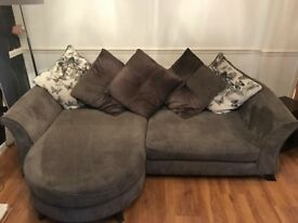 Grey cushion back sofa- setee- couch- good condition