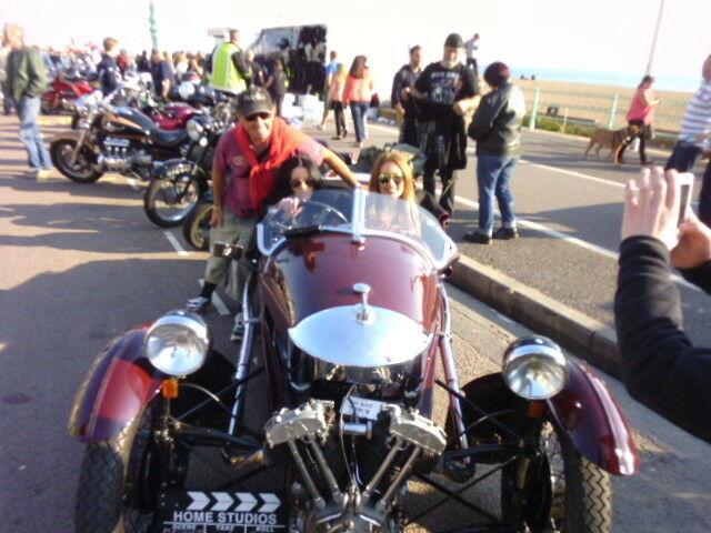 Filming for the 'Brightona' event on Madeira Drive,Brighton seafront...
