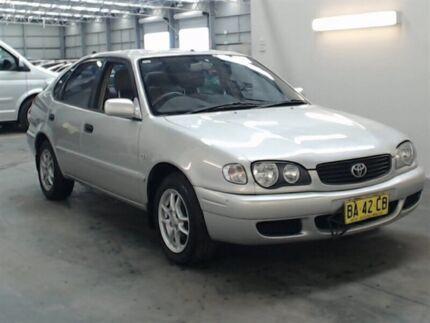 2000 Toyota Corolla AE112R Conquest Seca Silver 5 Speed Manual Liftback