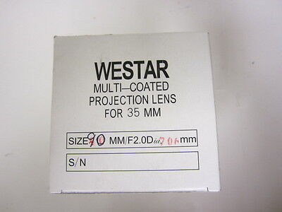 Westar 90mm 35mm Cine Projector Lens New MIB 70.6mm Diameter