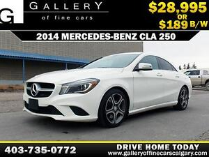 2014 Mercedes Benz CLA 250 $189 bi-weekly APPLY NOW DRIVE NOW