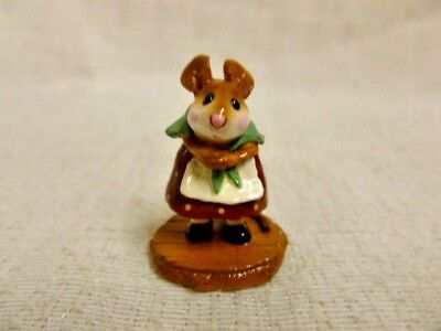 Wee Forest Folk Little Nell Special Edition M-254 Burgundy Dress Mouse Retired