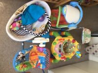 free Baby stuff, used but still in very good conditions, pram baby chair, swinging chair, bath