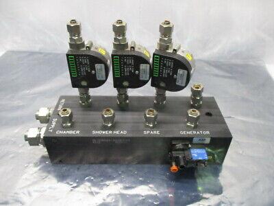 Novellus 15-419524-00 Manifold Assy, Valve Sensor, 3 Proteus 0504SA4 Flow Switch