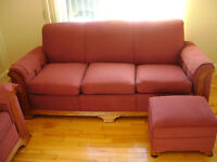 counch , chair and ottom redone $ 250.00