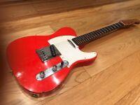 Relic'd telecaster-style Japanese guitar MIJ not Fender