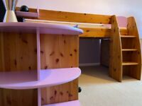 Stompa mid-sleeper single bed reduced price £150.00