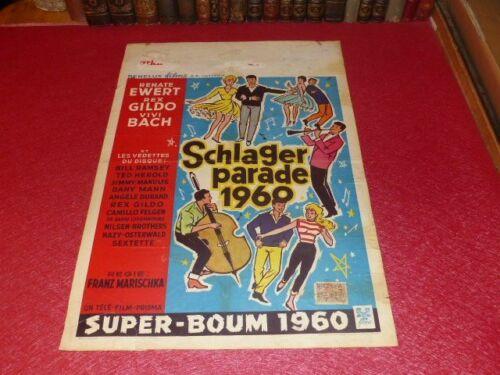 Cinema Poster Original Belgian Parade Schlager (Super Boum ) 1960 Vivi Bach