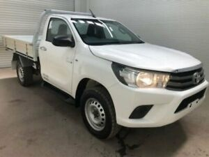 2015 Toyota Hilux GUN126R SR Glacier White Manual CAB CHASSIS SINGLE CAB Bohle Townsville City Preview