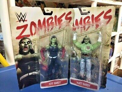 MATT JEFF HARDY BOYZ WWE Mattel Zombies Series 3 Wrestling Figure MOC WWF New