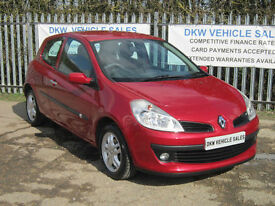 RENAULT CLIO 1.2T 16V TCE EXPRESSION 3DR RED ONLY 58K FSH 8 X STAMPS / 1YRS MOT!