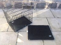 Dog Crate / Cage Small Black