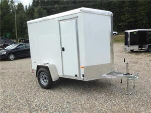 Neo - Top Quality Enclosed trailer 5x8 ft V Nose- Ramp door