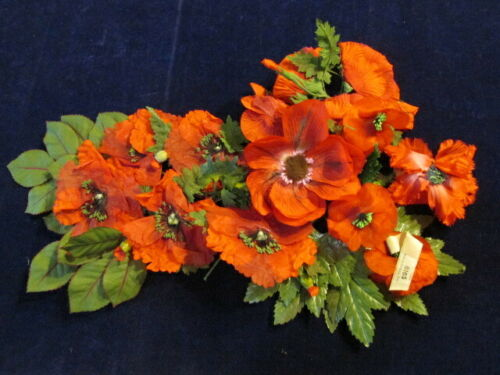 "Vintage Millinery Flower Collection 2 1/2""-4"" All Red Poppy Anemone German   K53"