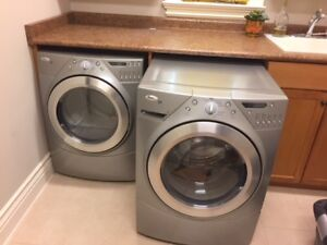 Whirpool Duet Frontload HE Washer & Dryer - Med. Grey Colour