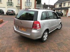 7 seater 2008 vauxhall zafira 1.6. Has 2keys service history book, clean inside and out...