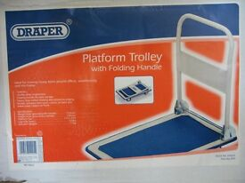 Boxed As New Draper 44005 Platform Trolley with Folding Handle