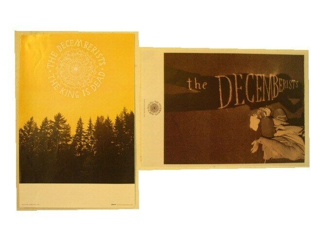 The Decemberists 2 Sided Poster The King Is Dead