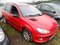 PEUGEOT 206 2.0 SW 16V 5d 135 BHP (red) 2003
