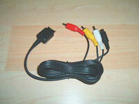 AV RCA Video Cable For Playstation 1, 2, 3
