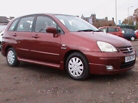 SUZUKI LIANA GLX 1.6 AUTOMATIC 5 DR,RED,1 OWNER,CLICK ON VIDEO LINK TO SEE CAR IN MORE DETAIL