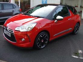 2012 Citroen DS3 1.6e-HDi ( 115bhp ) Airdream DSport Plus Leather Seats Zero Tax