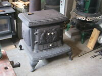 3 Antique Wood Stoves   old woodstove