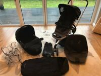 Full Quinny Buzz Travel System - Pram, Buggy, Muff, Buzz Bag, Rain Cover & Large Seat Change