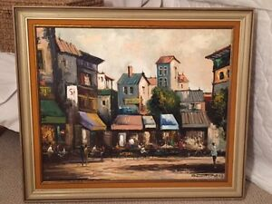 "Framed Oil Painting 28""x33"" Picture"