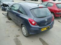 VAUXHALL CORSA D REAR TAILGATE INC GLASS 2007 2008 USED BLUE