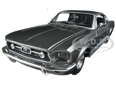 1967 FORD MUSTANG GT GREY 1:24 DIECAST MODEL CAR BY MAISTO 31260