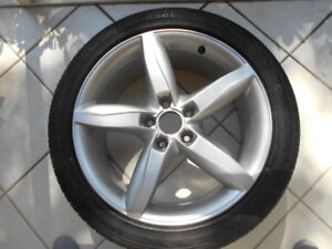 Audi Factory OEM 18 inch alloy rims, Continental 245 40 18 tires