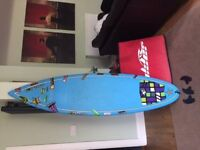 Surf board for sale Not used Carry case included