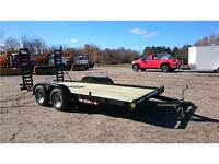 WINTER CLEARANCE**  2016 GATOR 16' 9850LBS FLATBED TRAILER