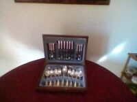 Cutlery set,44 pieces, silver plated