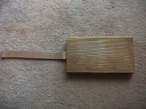 1950s GOLD METAL COMPACT PURSE AND MATCHING COMPACT