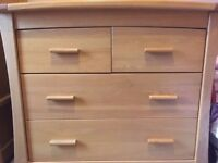 Oak Chest of Drawers - £225