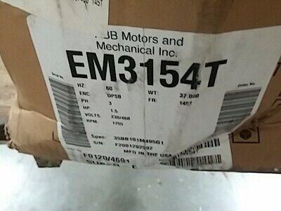 Baldor Em3313t 10hp 1770rpm Electric Motor
