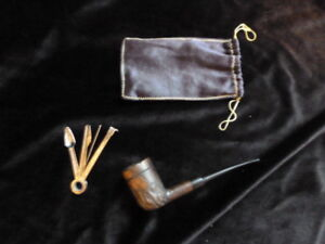 Vintage T. Polinski pipe made in Poland with 4 in 1 tool kit Rar