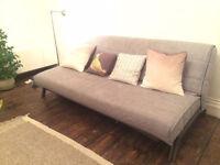 Ikea ISUNDA Grey Karlaby Sofabed With Storage Underneath Good Condition