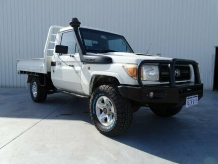2011 Toyota Landcruiser VDJ79R MY10 Workmate White 5 Speed Manual Cab Chassis Canning Vale Canning Area Preview