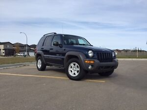 Drive safe the winter! 2003 Jeep Liberty Sport