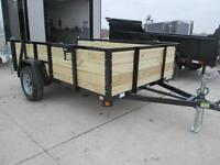 UNIVERSAL HIGH SIDED UTILITY TRAILER 74'' X 10' - ONE OF A KIND