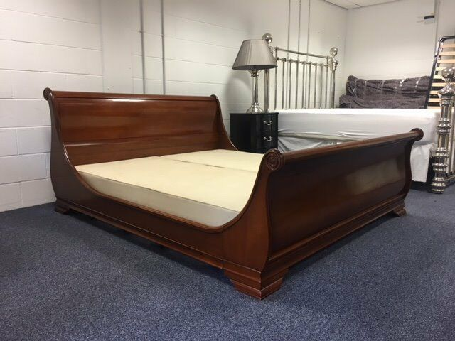 And So To Bed London Manoir Wooden Sleigh Bed 6ft Superking In