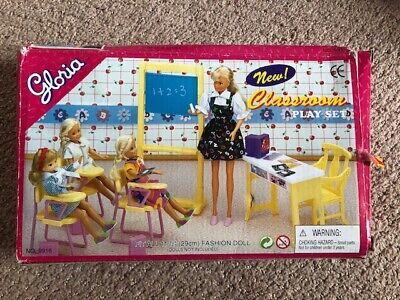 New Barbie Size Dollhouse Furniture Gloria Classroom Play Set w/ Free Shipping